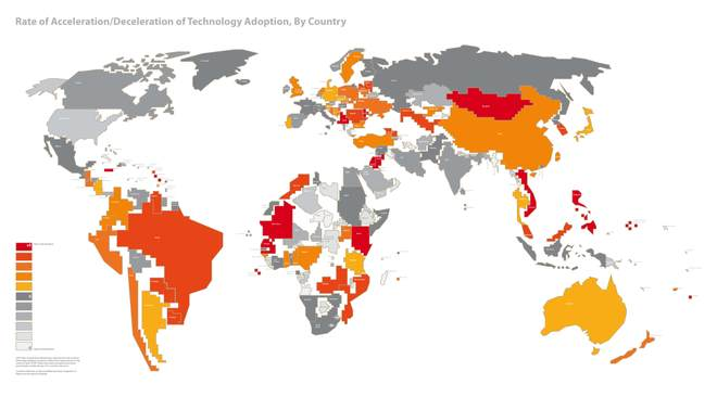 La carte de l'adoption des technologies