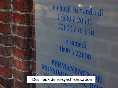 Horaires modulables