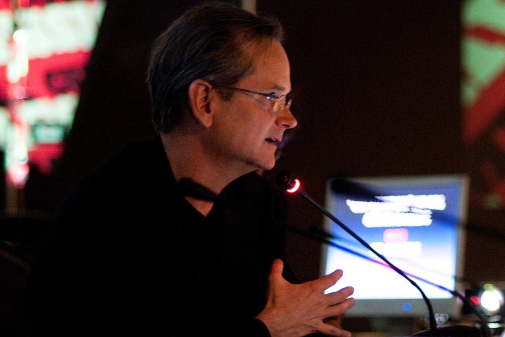Lawrence Lessig lors d'une de ses multiples intervention publique
