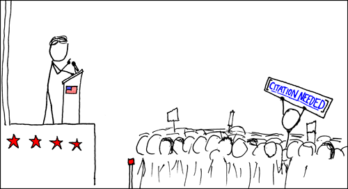 Le wikipedian protester selon xkcd