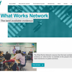 Page d'accueil du What Works Network